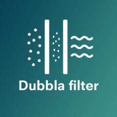 Dubbla filter för ren luft